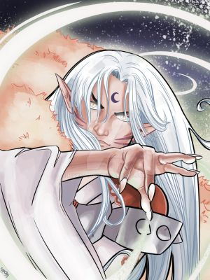 Lord Sesshomaru (Colors) by nickcaponi