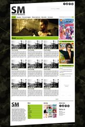 WebDesign for SM - Homepage by Aelheann