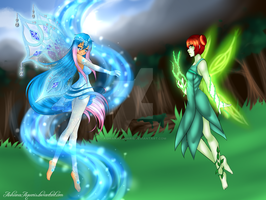 Collab: 'Spirits of the Forest' by AshianaAquaris