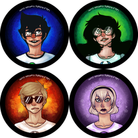 homestuck buttons set 4 by whinge