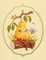 The Pear Who Loves To Play For Birds by grelin-machin