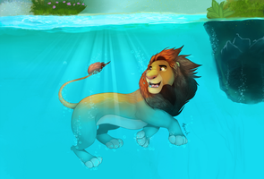 simba underwater rework by HavickArt