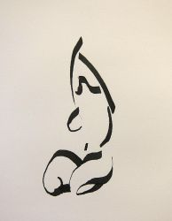 Calligraphic model drawin! 3 by Slight-Shift