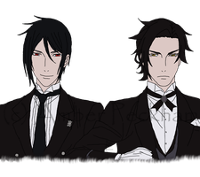Sebastian and Claude WIP by The-Bone-Snatcher