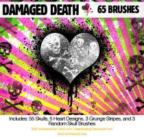 damagedDEATHskulls PS7 Brushes by KeepWaiting