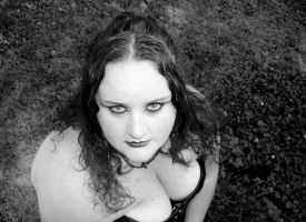 Me in Black and White by LadyRavenhawk