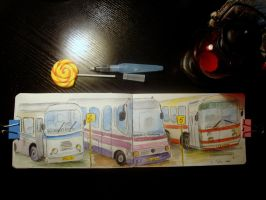 Buses by ThoughtsMasturbation