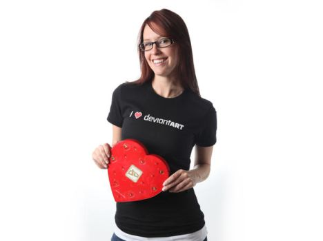 I Heart deviantART Tee by deviantWEAR
