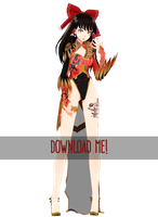 .:MMDxTDA PhoenixDragon Reimu DOWNLOAD:. by ONIGIRIKINGU