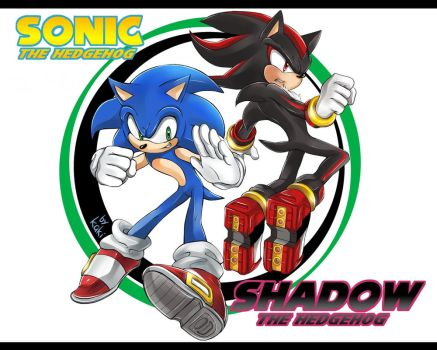 SONIC and SHADOW 2 by ka1513-2