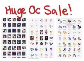 HUGE PONY OC SALE/ADOPTS/ by Saphi-Boo