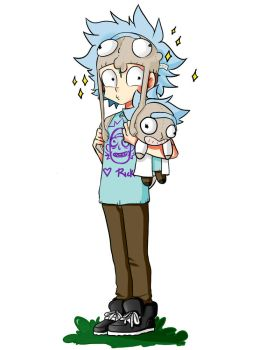 super rick fan morty by MachroAyaneDiLullaby