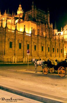 Horse and Carriage at Night 2 by darkspirited1