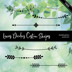 Leaves Dividers Custom Shapes by MysticEmma