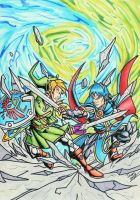 Link vs Marth by Twinkie5000