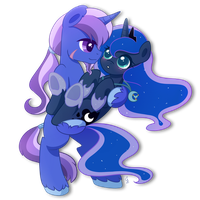 Commission .:Princess and Her Night:. by Exceru-Karina