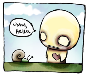 Hello, Snail by azuzephre