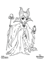 Maleficient - Lineart by JadeDragonne