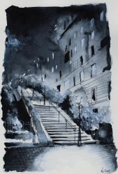 For sale original - In the blue of the night by nicolasjolly