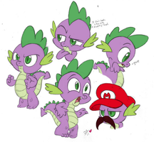 spike sketches by SisterBelldandy