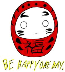 Be Happy, Daruma by Froggy-Spaztastic