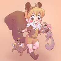 Squirrel Girl by artkitty