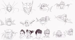 Transformers Prime Sketches by EricMHE