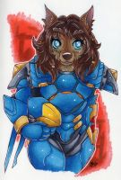 Commission: Worgen Pharah by monniponi