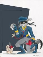 Commission:  Sly Cooper, Sneakthief by demonfartcabbage
