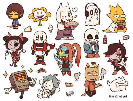 undertale by Ssalbug
