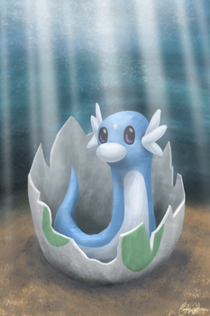 Dratini by Goldencloud