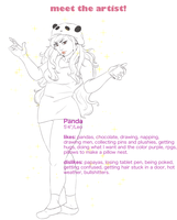 Meet The Artist: Panda by tehchibipanda
