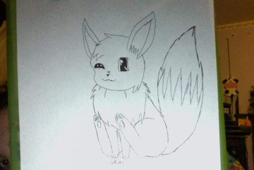 ~ Chibi Eevee ~ by Ducky-the-Wolf
