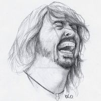 Dave Grohl by Uptighturbanite