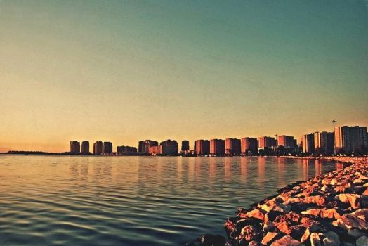 :the city sun sets over me II: by izmir