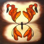 Stained Glass Monarch by NathanHolly