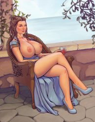 Margerie topless by boobsgames