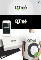 Qtree Logo Design by vasiligfx