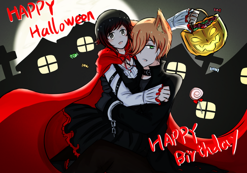 rosewick - Happy Halloween and Birthday by doumsnow