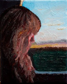 Girl on train (2011) by FuglenThomas