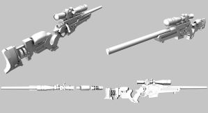 BM79 Sniper Rifle W.I.P. 4View by 3DFunkee