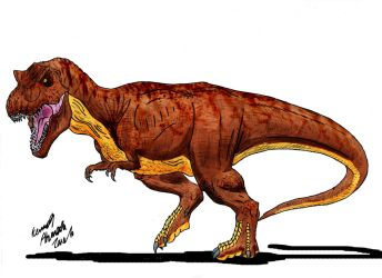 Rexy is back! by Dino-master