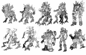 robot sketches by tat88