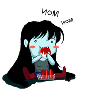 Marceline Feeds by moonkittyproductions