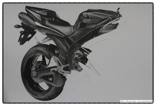 YAMAHA R1 Drawing WIP(2) by sharppower