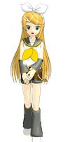 MMD Long Haired Rin by brsa