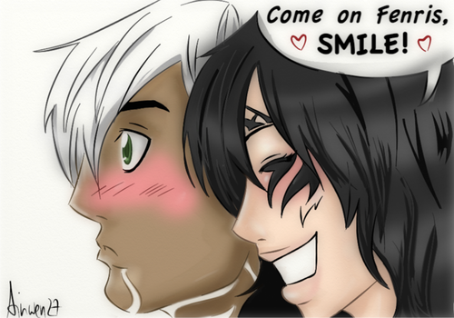 DA2: Come on Fenris,Smile by Ainwen27