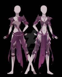Zel Outfit Front and Back. by LudedWolf