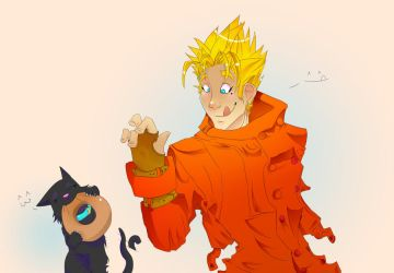 Vash wants a doughnut by lilpixi