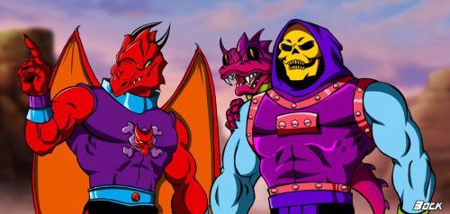 Draego-Man and Skeletor Dragon Blaster by MikeBock